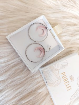 Purelei Ear Hoops silver-colored-rose-gold-coloured