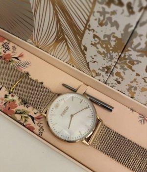 Purelei Montre avec bracelet métallique or rose