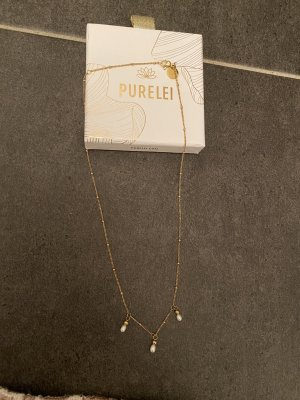 Purelei Gouden ketting goud-wit