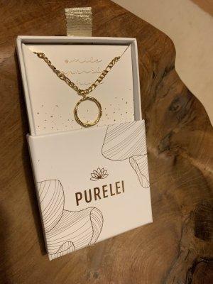 Purelei Kette Bamboo Halskette gold NEU