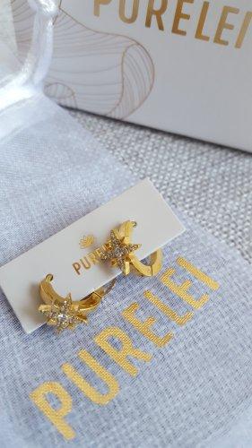 Purelei Pendientes tipo aro color oro metal