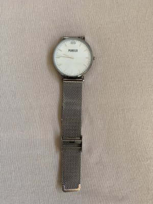 Purelei Reloj con pulsera metálica color plata-crema