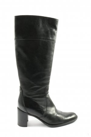 Puritano Wide Calf Boots black business style