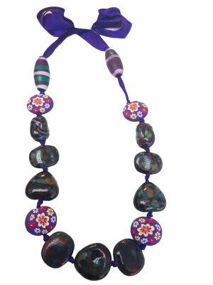 Purple Stein Halskette Damen Kette Lila