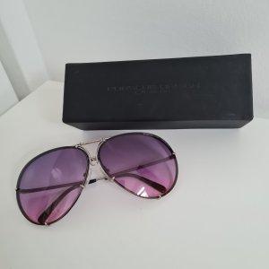 Porsche Design Oval Sunglasses lilac-purple metal