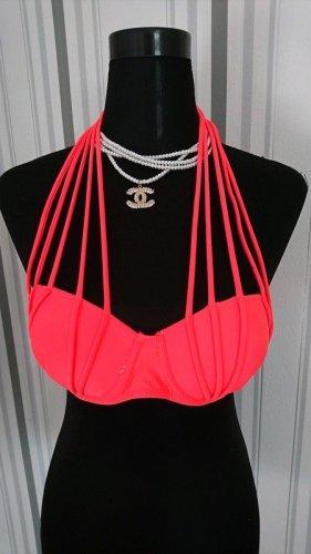 Push-Up Bikini Größe 36 in neon orange