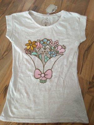 Pusheen Shirt Blumenstrauss Neu mit Etikett 36 S 100% Baumwolle
