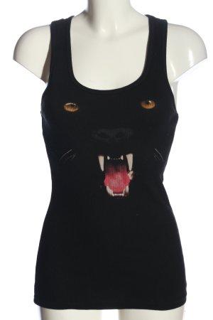 Pussy Deluxe Camisole zwart prints met een thema casual uitstraling