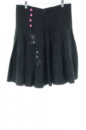 Pussy Deluxe Plaid Skirt flower pattern casual look