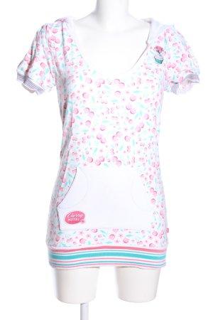 Pussy Deluxe Camicia con cappuccio stampa integrale stile casual