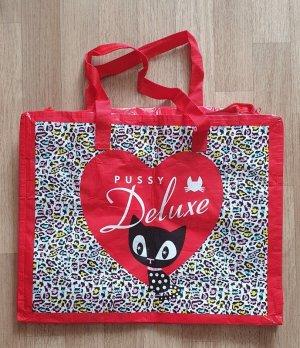 Pussy Deluxe Leo Shopper rot Kitty Leoparden Muster Tasche