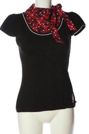 Pussy Deluxe Koszulka o kroju podkreślającym sylwetkę Wzór w kratkę