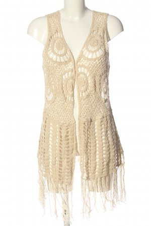 Pussycat London Long Knitted Vest natural white casual look