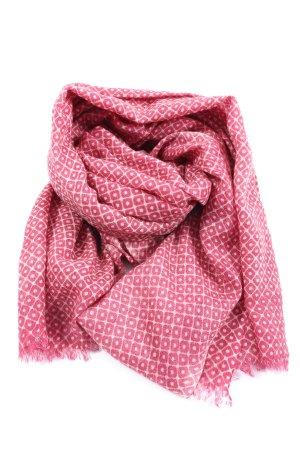 Pyaar Wełniany szalik różowy-biały Na całej powierzchni W stylu casual