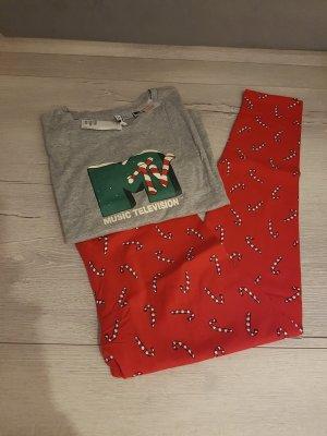 H&M Pijama gris-rojo