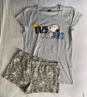 Peanuts Pyjama grey-pale blue