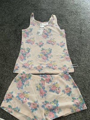 H&M Basic Piżama biały-kremowy