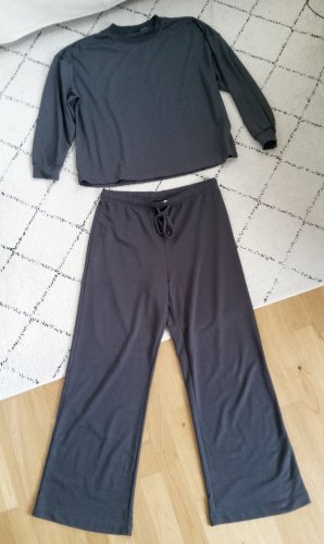 H&M Pyjama bleu foncé-gris anthracite viscose