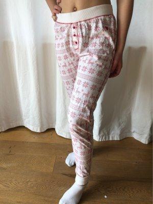 Basefield Pyjama white-dark red