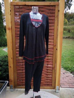 Ringella Pijama negro-rojo oscuro