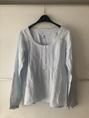 Pyjama-Oberteil hellblau/weiß von H&M