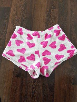 Piżama biały-różowy