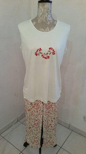 Little Rose Pijama rojo ladrillo-verde pálido