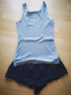 Pyjama Schlafanzug kurz blau H&M