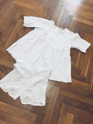 Pyjama Schlafanzug kurz Sommer ZARA home hellblau Gr. M Shortie