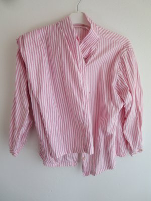 Vintage Pijama rosa-blanco Algodón