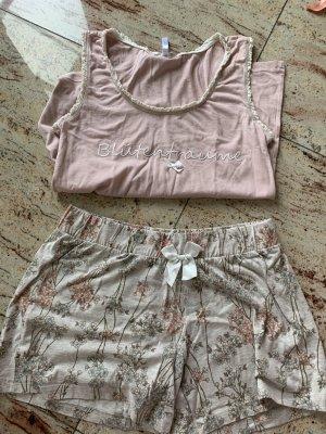 Louis & Louisa Komplet bielizny w kolorze różowego złota-biały