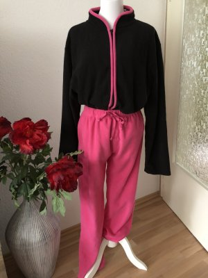 Pyjama zwart-framboosrood