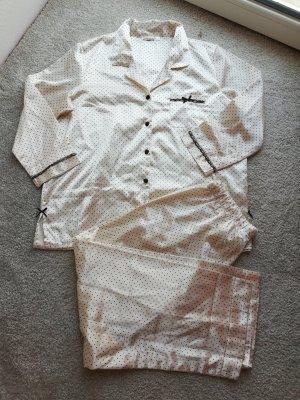 Jolinesse Pyjama donkerbruin-wolwit