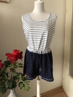 Pyjama white-dark blue
