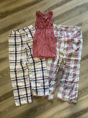 Pijama blanco-color rosa dorado