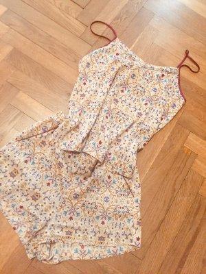 Pyjama Shortie kurz sommerlich Print beige blau rot Zara H&M Gr. L
