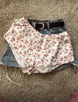 Hot pants wolwit-framboosrood
