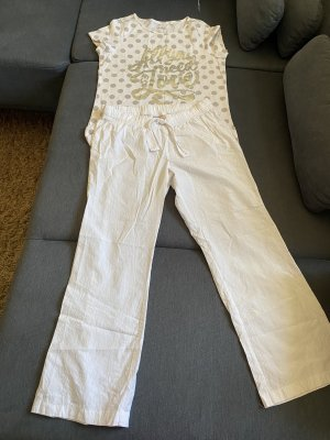 Esmara Twin Set tipo suéter blanco-color plata