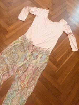 Zara Piżama Wielokolorowy Tkanina z mieszanych włókien