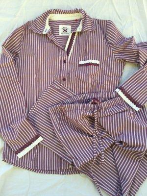 Esprit Pijama púrpura-blanco