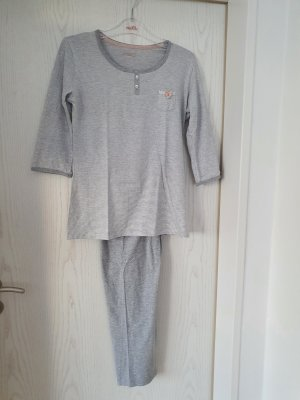 Esprit Pyjama blanc-gris clair