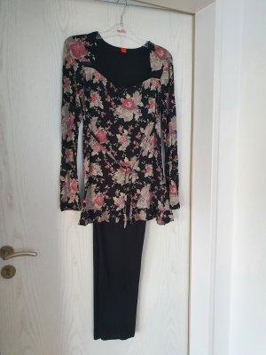 Esprit Pyjama noir-vieux rose