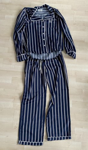 Gilly Hicks Pijama blanco-azul oscuro Poliéster