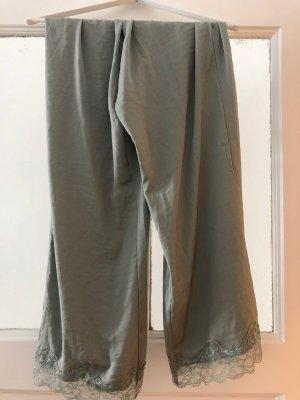 Pyjamahose von H&M in Khaki, Gr. S