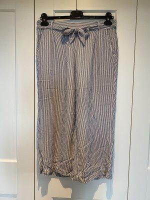 Triumph Piżama biały-szary Tkanina z mieszanych włókien