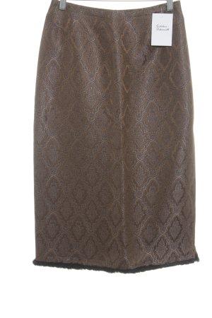 Pyramid Midirock bronzefarben-dunkelblau Street-Fashion-Look