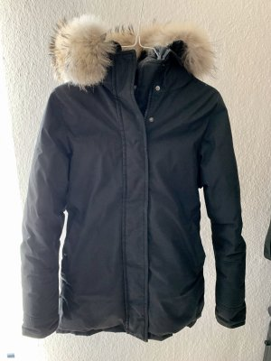 Woolrich Down Jacket black-dark blue