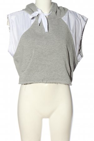 Pyrex Hooded Vest light grey-white flecked casual look