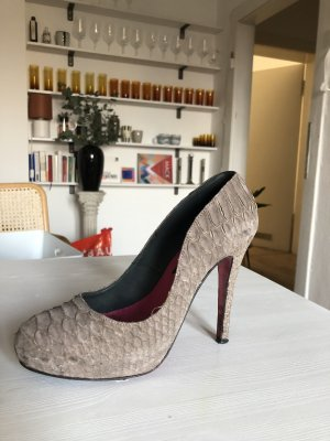 a cuckoo moment Platform Pumps grey brown