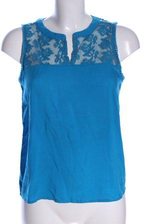Q/S ärmellose Bluse blau Casual-Look